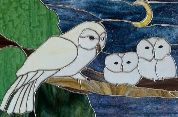 Owl Stained Glass - Haywood County Arts Council